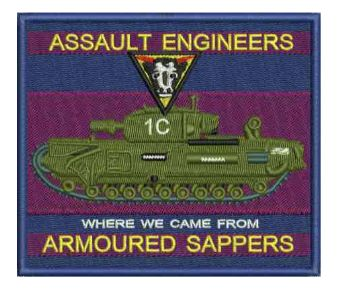 Assault Engineer Embroidered Badge